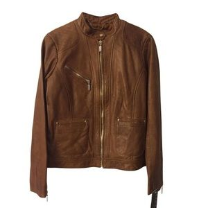 Bernardo Brown Moto Jacket